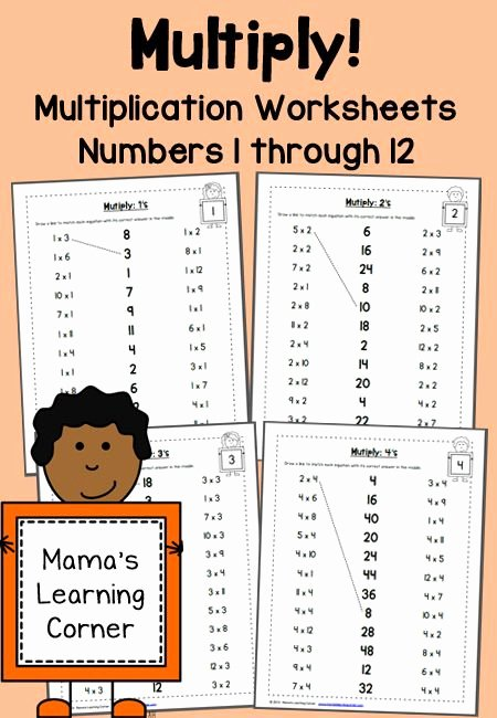 Learn Multiplication Worksheets Awesome Multiplication Worksheets Numbers 1 Through 12