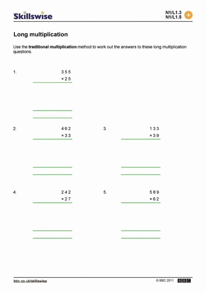 Long Multiplication Worksheets Best Of Long Multiplication Worksheets Di 2020