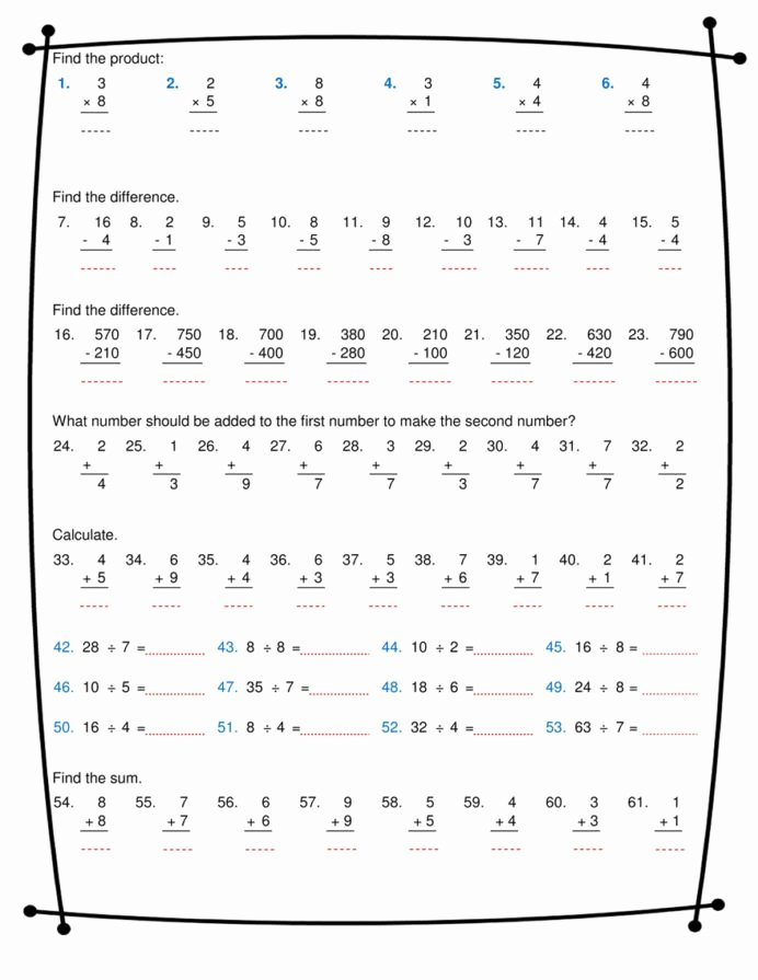 Math Division and Multiplication Worksheets Best Of Ninalazina Addition Subtraction Multiplication Division