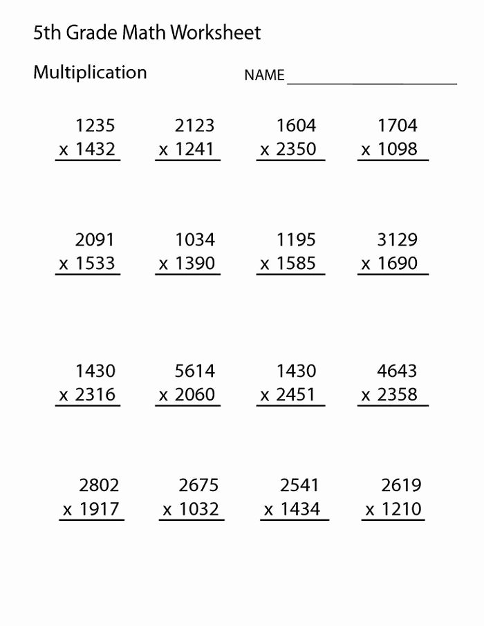 Math Multiplication Worksheets Grade 5 Lovely Grade 5 Math Worksheets