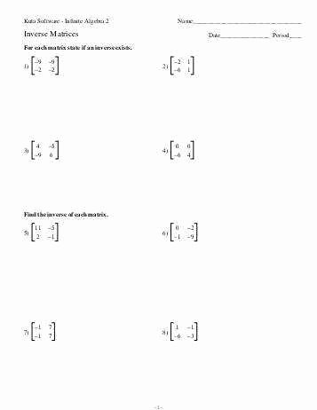 Matrix Multiplication Worksheets Inspirational Multiply Matrices Worksheets