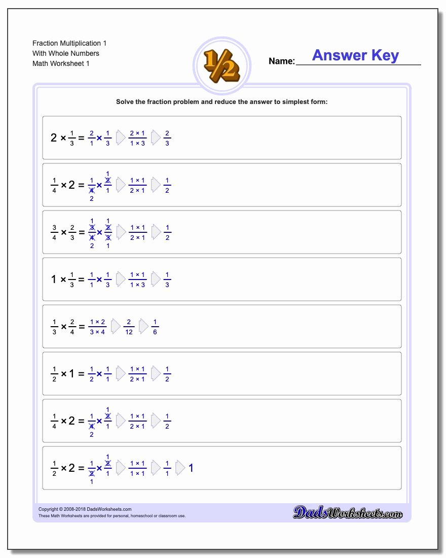 Mixed Fraction Multiplication Worksheets Lovely Fraction Multiplication