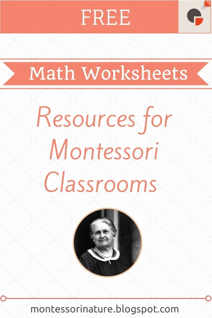 Montessori Multiplication Worksheets Unique Free Montessori Math Worksheets