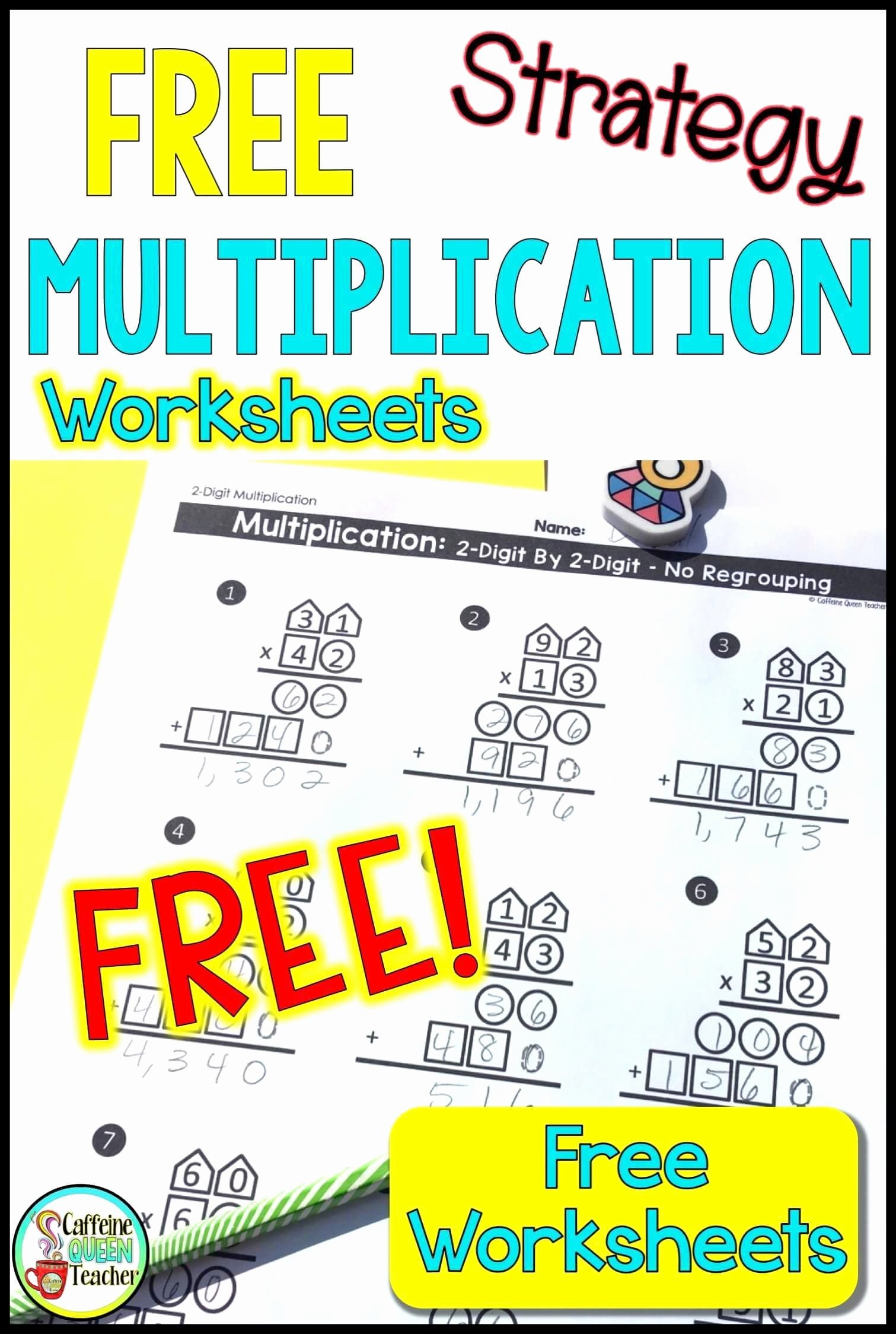 Multi Digit Multiplication Worksheets Unique 2 Digit Multiplication Worksheets Differentiated