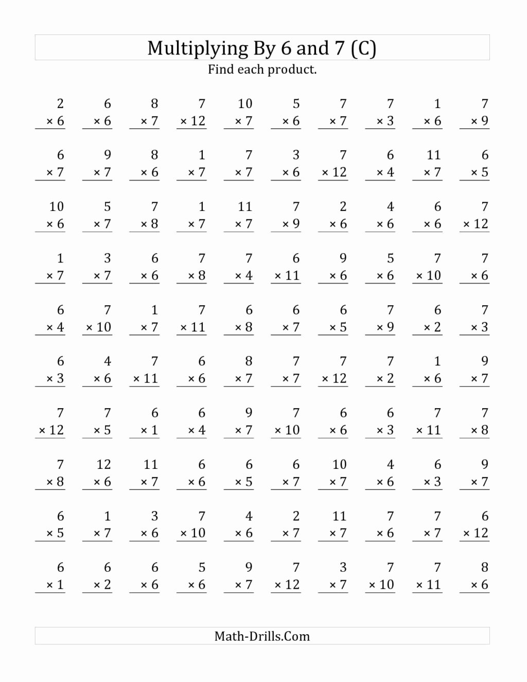 Multiplication Worksheets 100 Problems Awesome Worksheet Multiplicationksheets Grade Fabulous Image Ideas