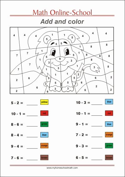 Multiplication Worksheets 1st Grade Awesome and Color Math Worksheets 1st Grade Free Colorable Syllabus