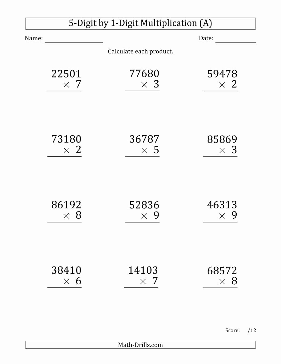 Multiplication Worksheets 2 Digits top Academic Math Games Level 3 English Worksheets Long