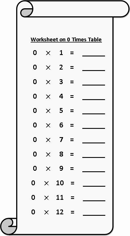 Multiplication Worksheets 2 Times Tables Fresh Worksheet On 0 Times Table