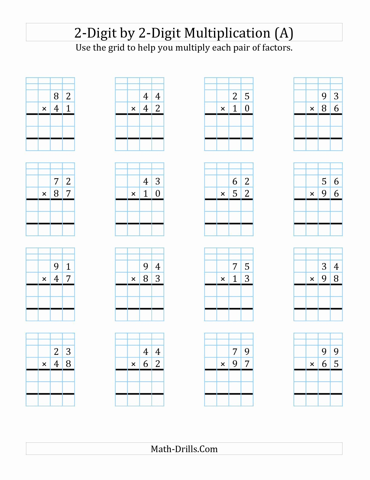 Multiplication Worksheets 3 Digit Awesome 3x2 Digit Multiplication Worksheets