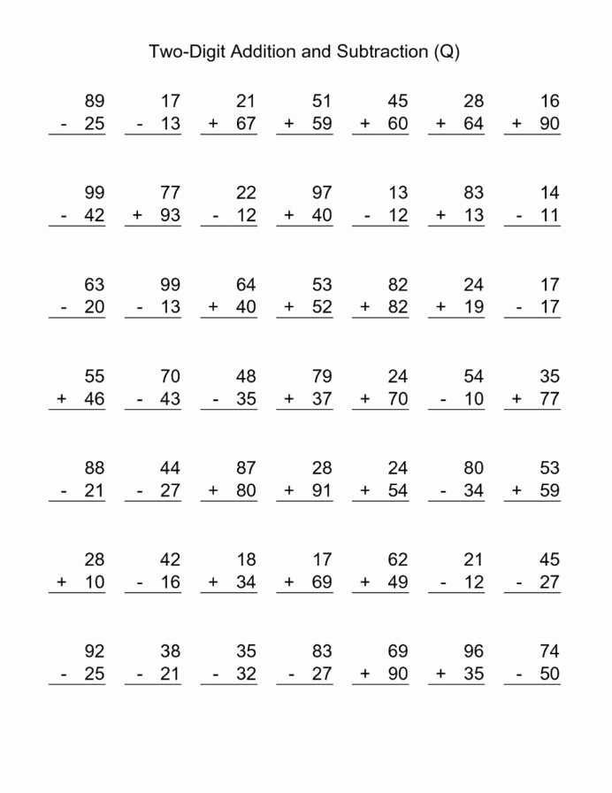Multiplication Worksheets 3rd Grade Printable top Third Grade Addition Worksheet Free Printable Math