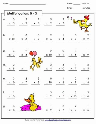 Multiplication Worksheets 3s top Multiplication by 3s