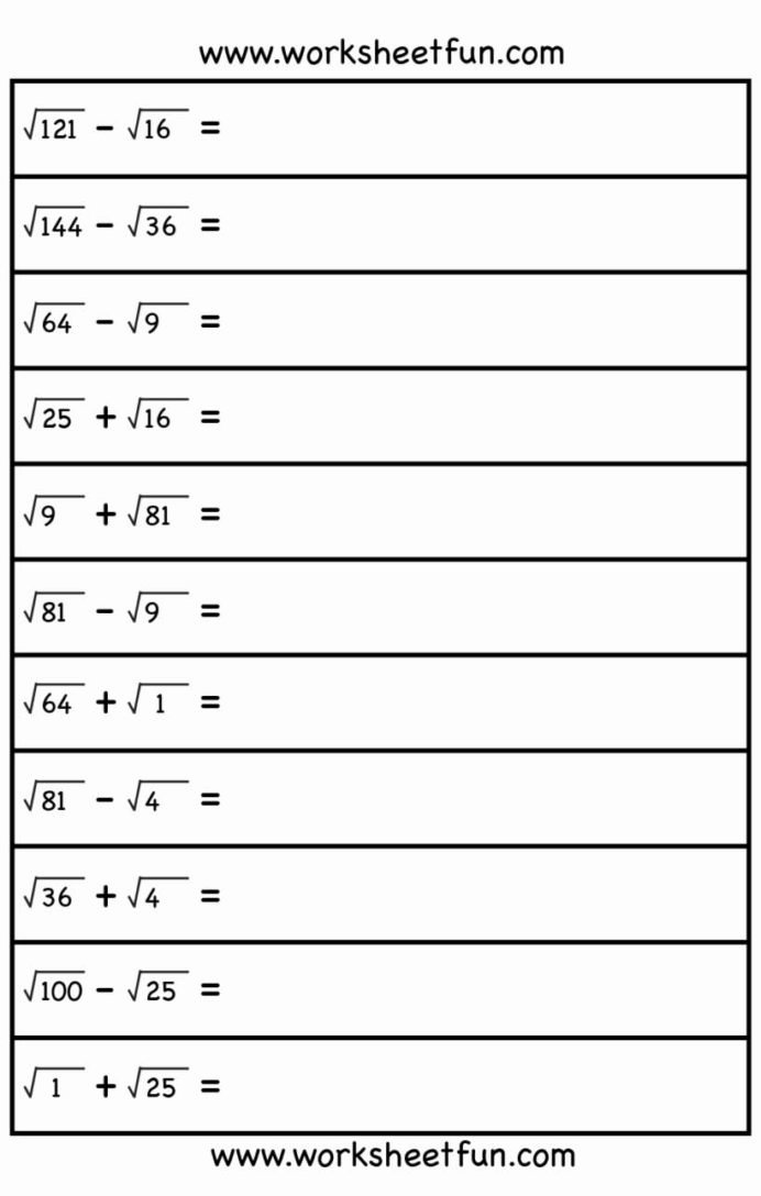 Multiplication Worksheets 8th Grade Inspirational Square Root 8th Grade Math Free Worksheets Roots Cool