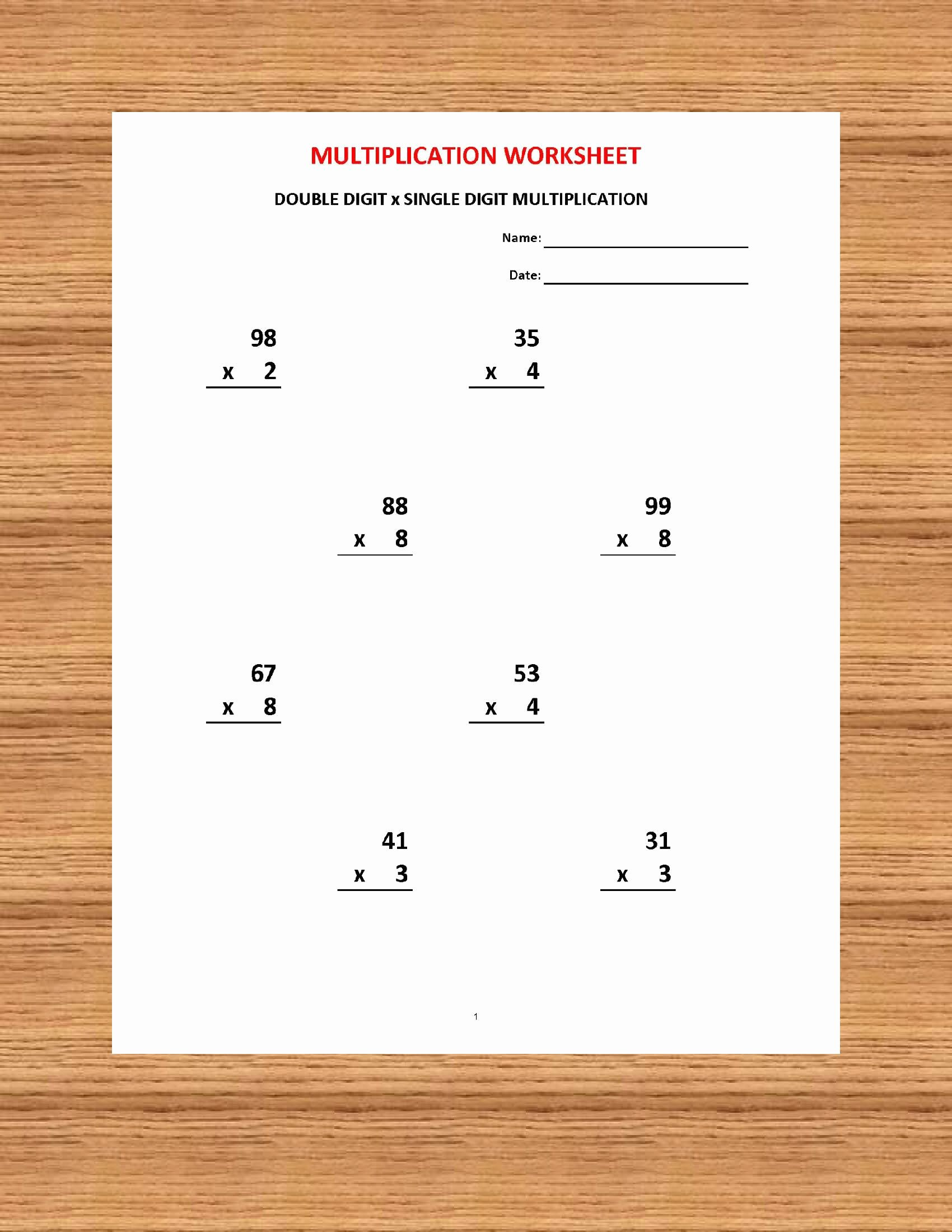 Multiplication Worksheets Answers Unique Addition 1 Minute Drill H 10 Math Worksheets with Answers