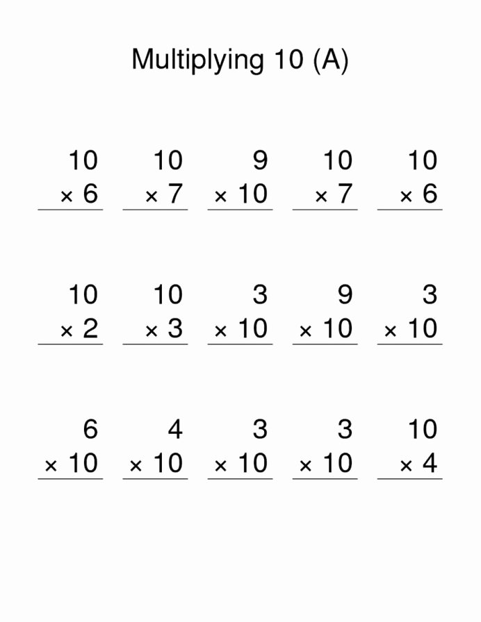 Multiplication Worksheets by 10 Unique Printable Times Table Worksheets Activity Shelter