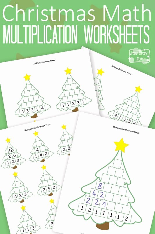 Multiplication Worksheets Christmas Unique Christmas Math Worksheets Multiplication Tree Itsybitsyfun