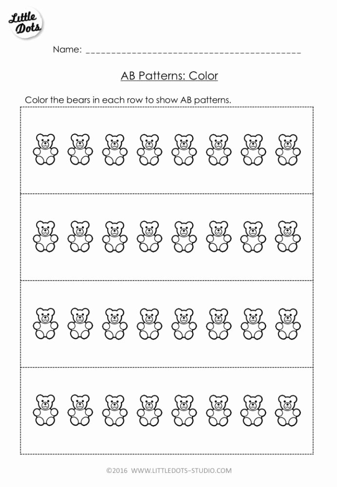 Multiplication Worksheets Create top Free Pattern Worksheet for Pre Create Your Own Patterns Math