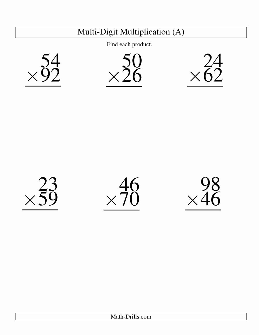 Multiplication Worksheets Double Digit Best Of 28 [ Double Digit Multiplication Word Problems Worksheets