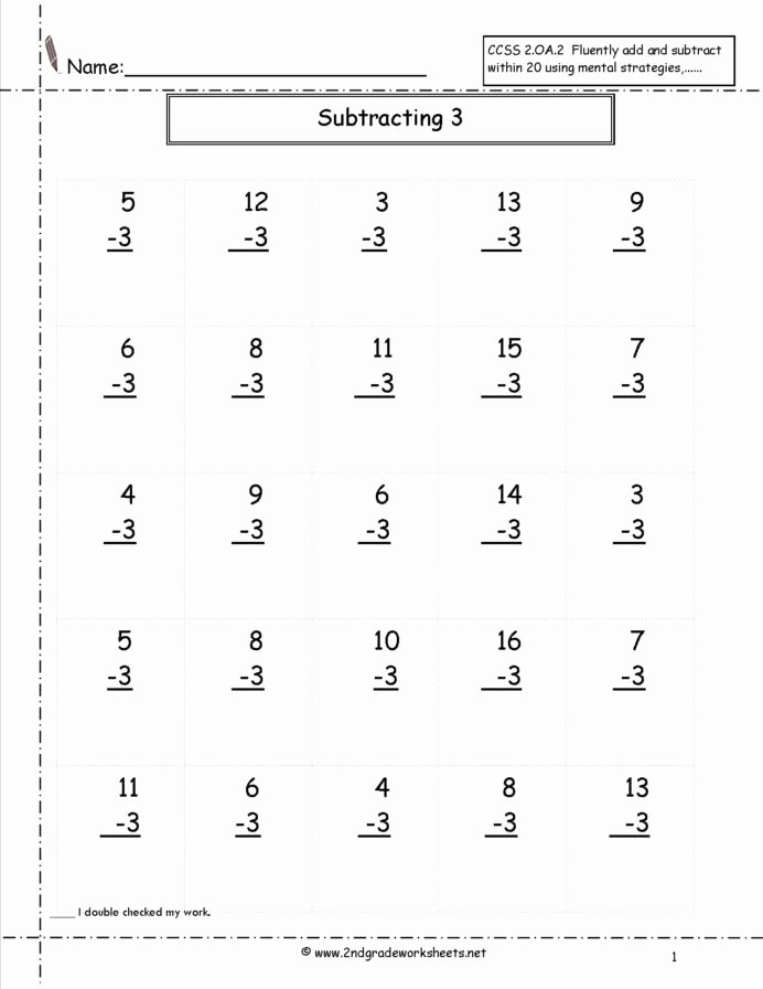 Multiplication Worksheets for 2nd Grade Best Of Second Grade Math Worksheets Subtraction Free Beginning