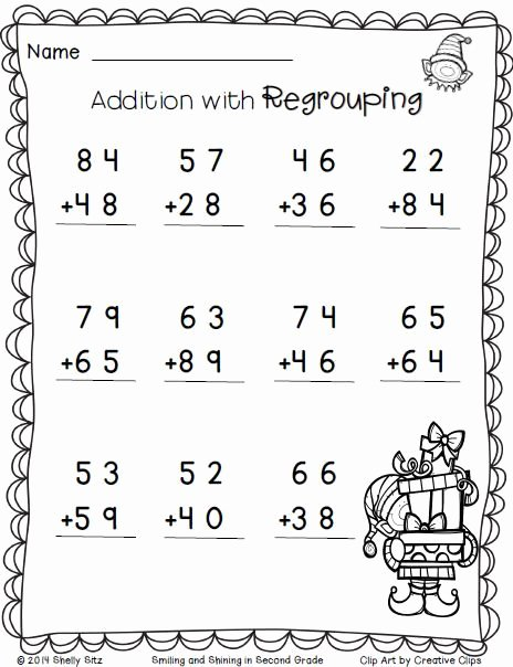 Multiplication Worksheets for 2nd Graders Lovely Christmas Freebie Print and Go 2nd Grade Math Worksheets