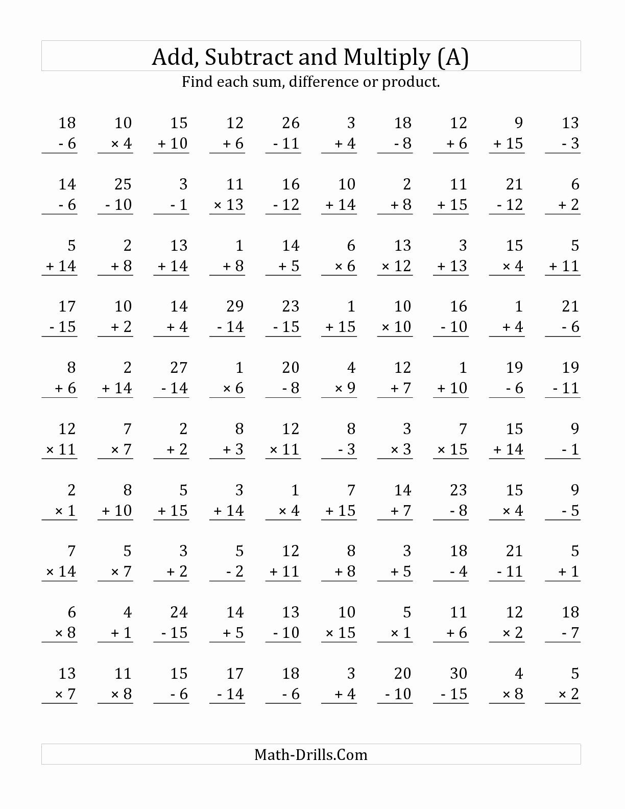 Multiplication Worksheets for 4th Grade top Worksheet Fantasticrth Grade Multiplication Worksheets