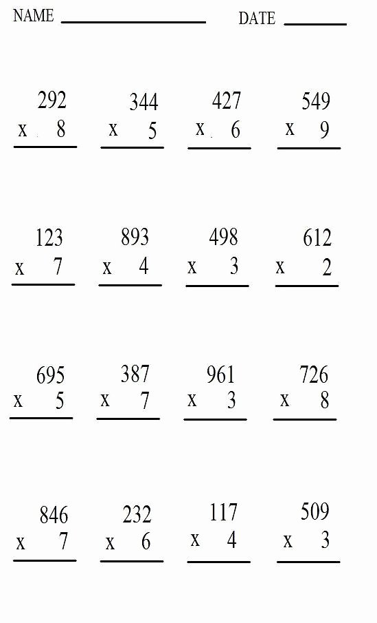 Multiplication Worksheets for Free Unique Free Printable Multiplication Worksheet