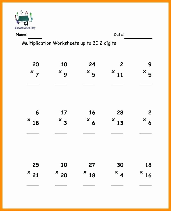 Multiplication Worksheets for Grade 2 with Pictures Best Of 2 Digit by 2 Digit Multiplication Coloring Worksheets 3 2