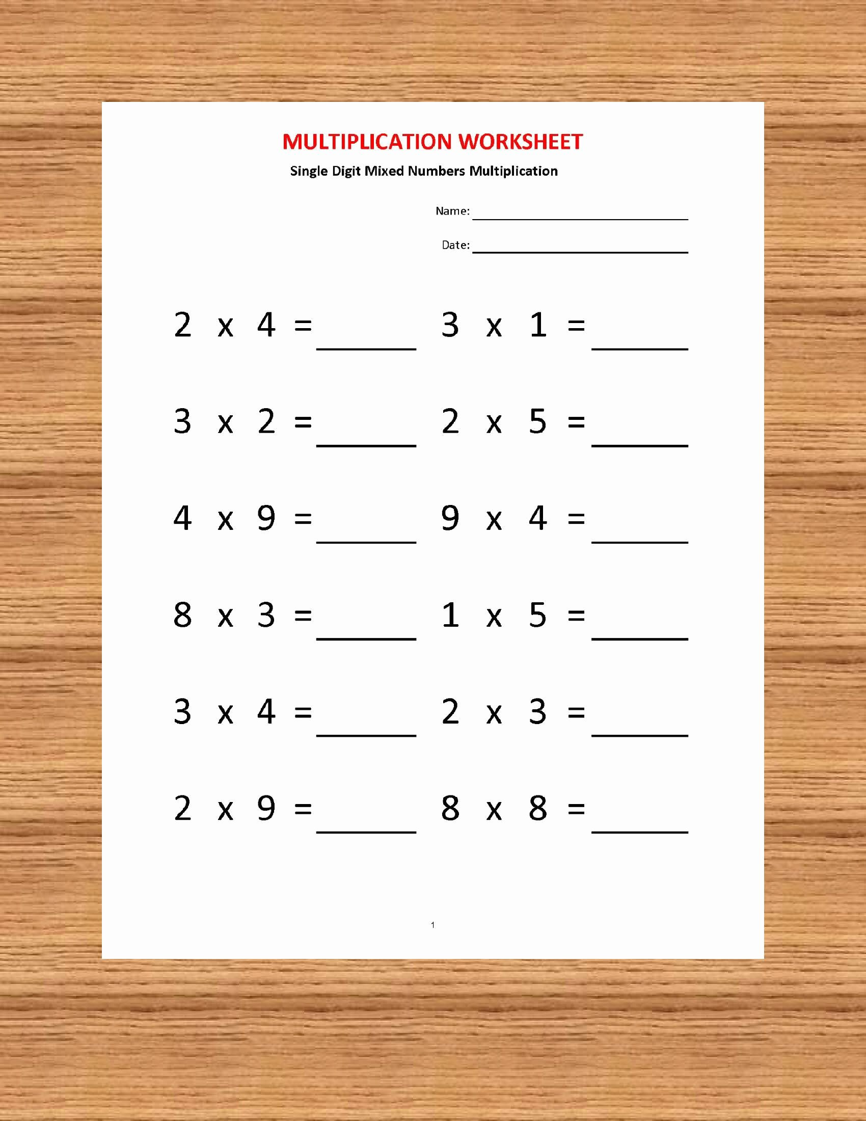 Multiplication Worksheets for Grade 2 with Pictures Fresh Multiplication Worksheets Printable Worksheets Etsy