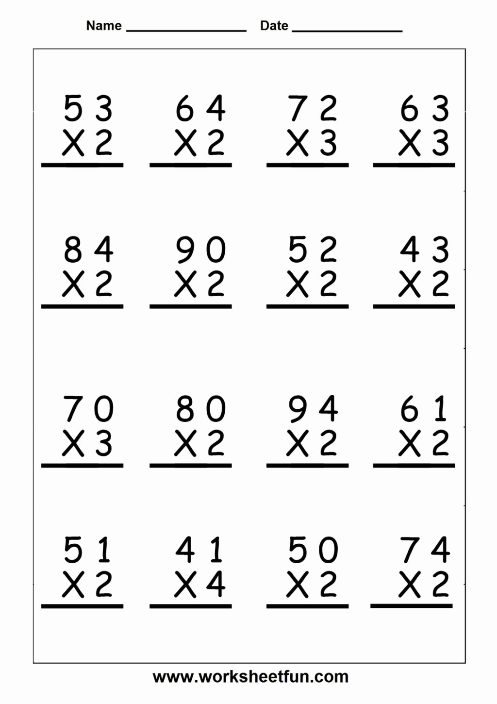 Multiplication Worksheets for Grade 3 New Worksheet Math Worksheets for Grade Maths Multiplication