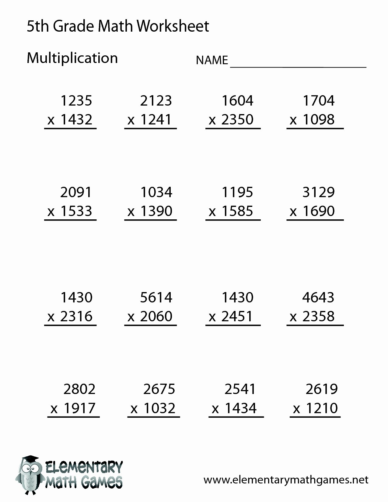 Multiplication Worksheets for Grade 5 Lovely 5 Digit Multiplication Worksheets Printable