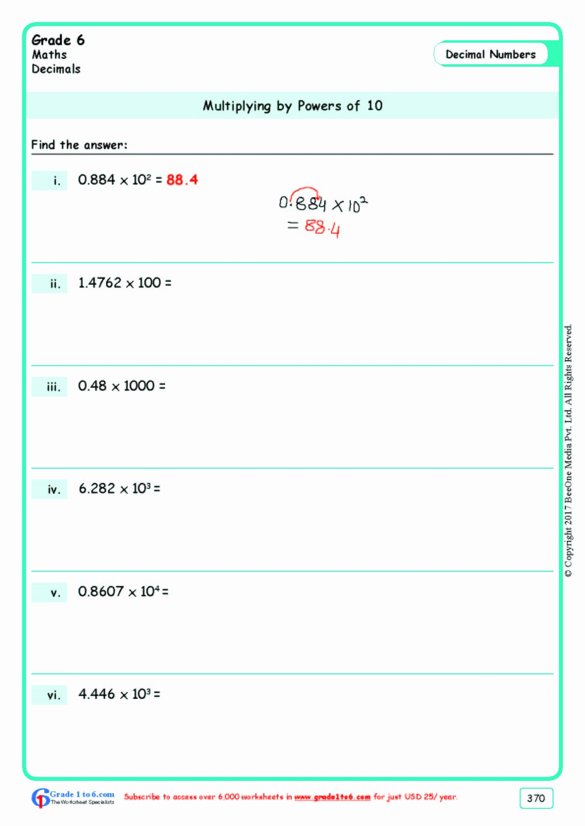 Multiplication Worksheets for Grade 6 Unique Grade 6 Class Six Multiplication Worksheets