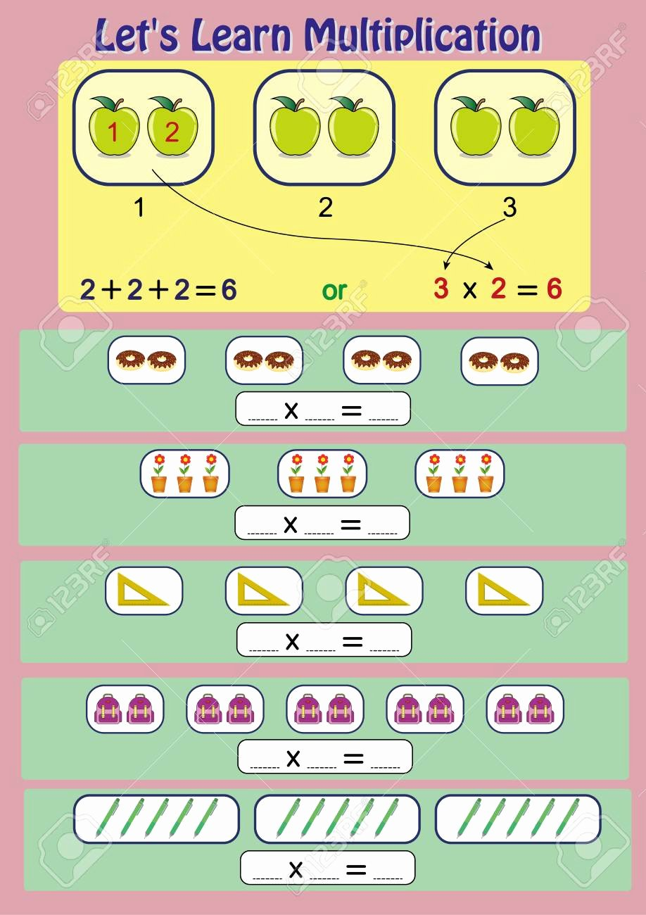 Multiplication Worksheets for Kids Fresh Let S Learn Multiplication Mathematical Activity Multiplication