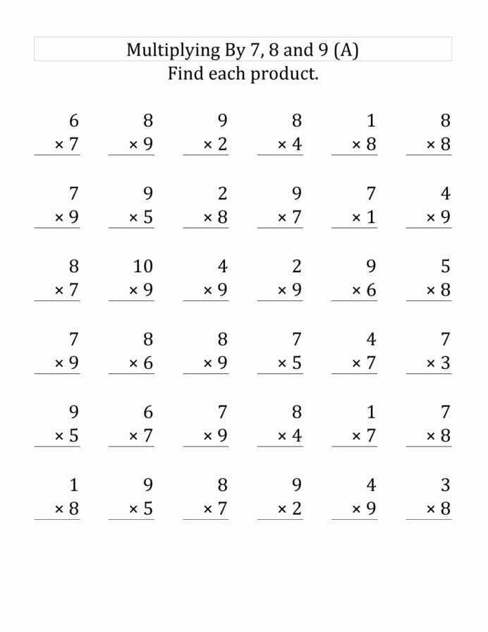 Multiplication Worksheets for Kids top Study for Math Test 3rd Multiplication Worksheets Print & Go