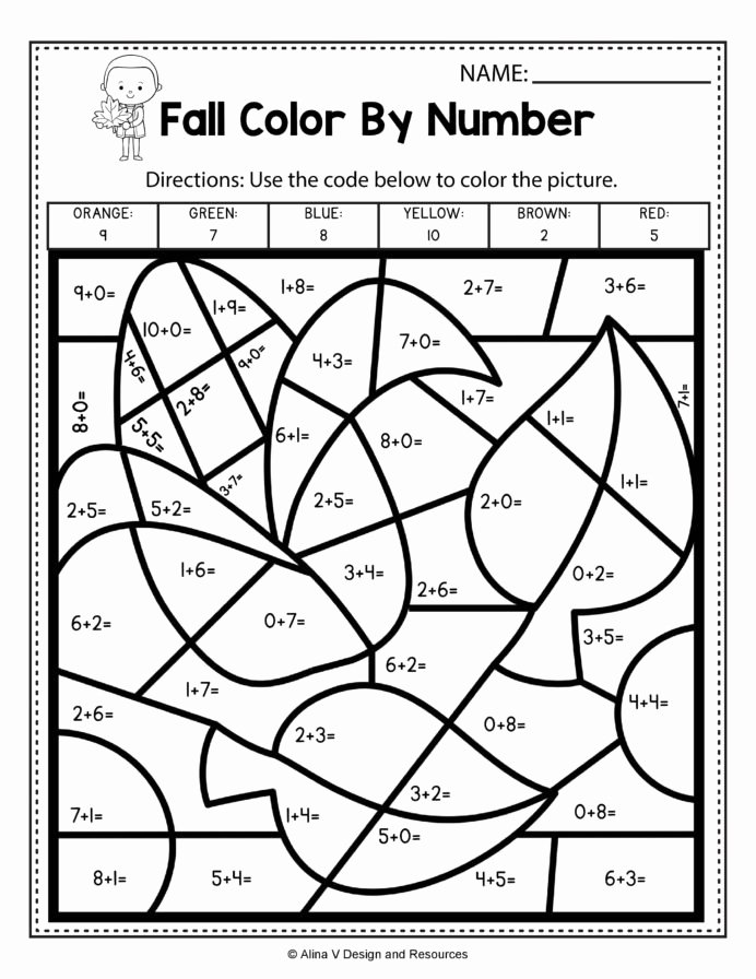 Multiplication Worksheets Games Best Of Fall Color by Number Addition Math Worksheets and Activities