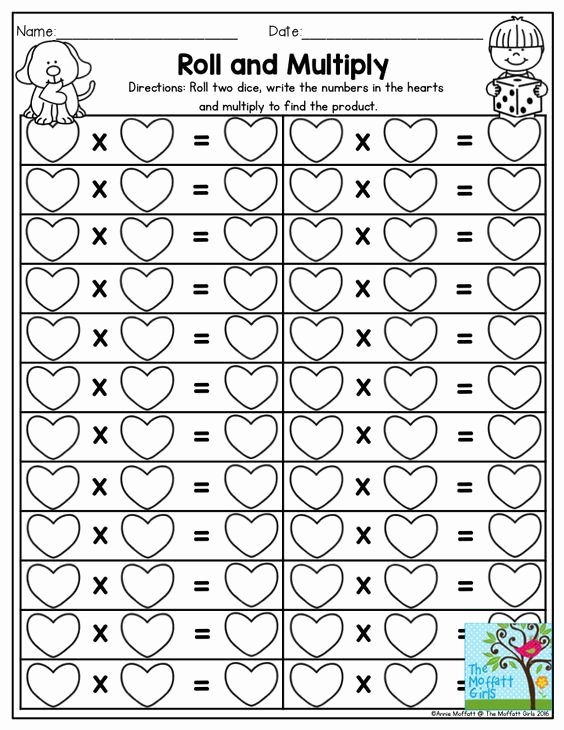 Multiplication Worksheets Games New February Fun Filled Learning
