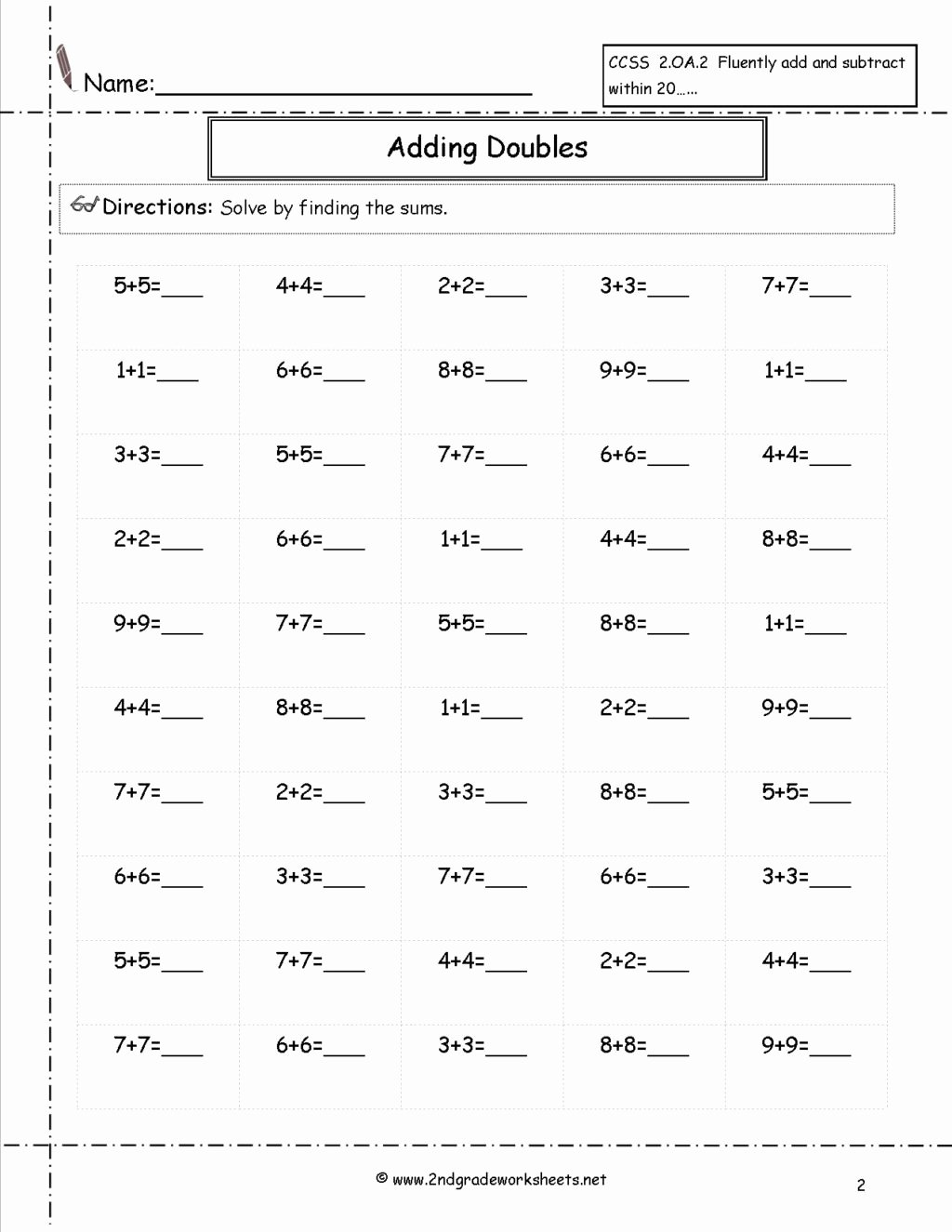 Multiplication Worksheets Generator Fresh Worksheet Doubles50 Free Math Worksheets and Printouts