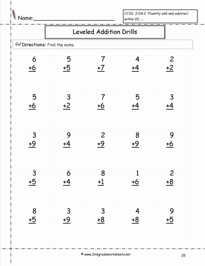 Multiplication Worksheets Grade 2 Printable Awesome Free Math Worksheets and Printouts Facts Additiondrills25