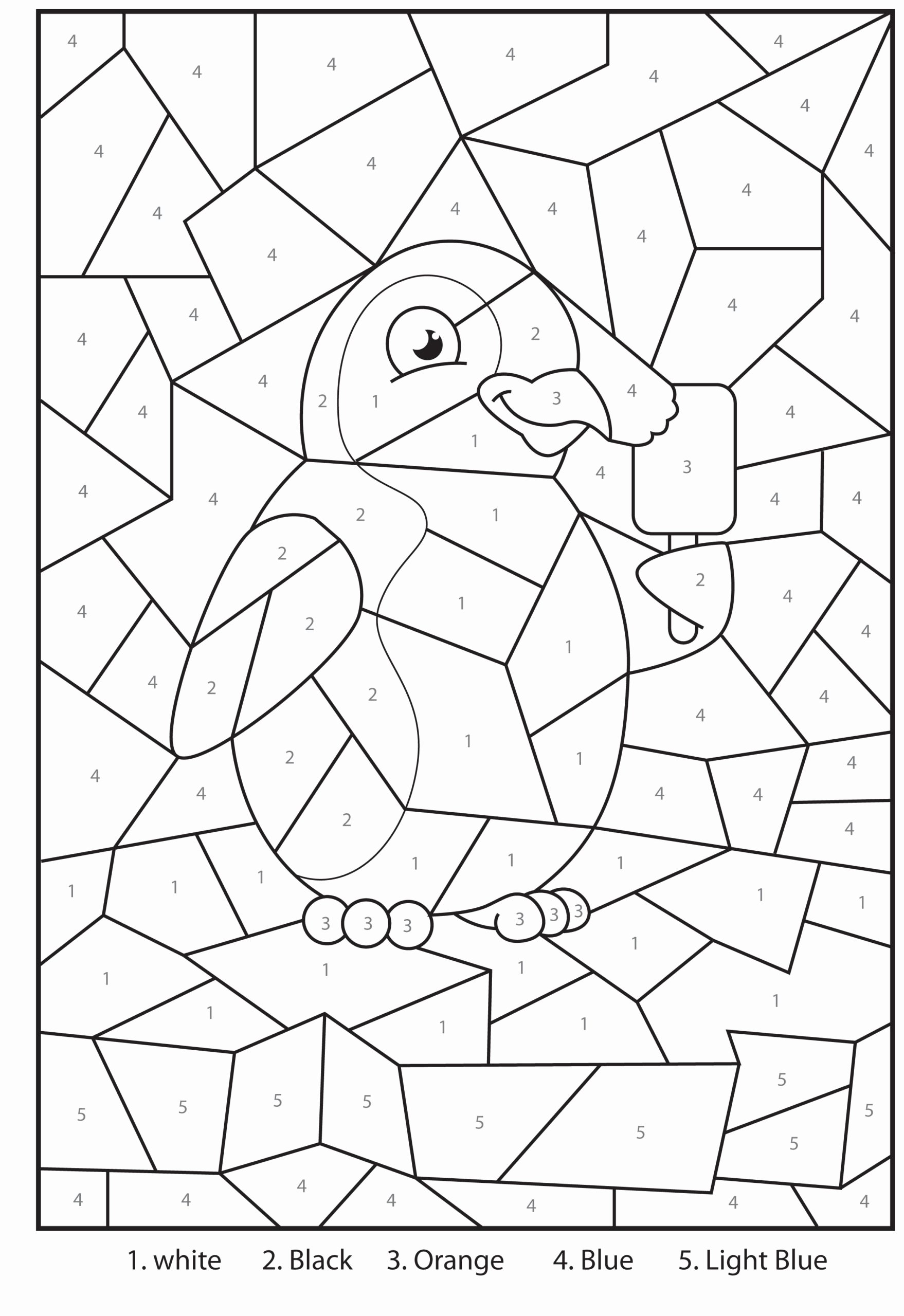 Multiplication Worksheets Grade 3 Free Printable top Coloring Free Printable Penguin at the Zoo Colour by