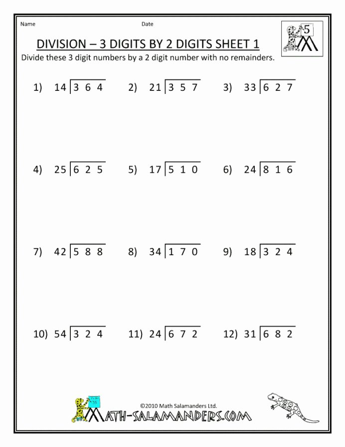 Multiplication Worksheets Grade 6 top Sixth Grade Math Worksheets for Educations Free Printable