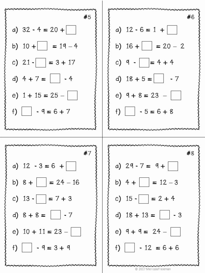Multiplication Worksheets Grade 8 Awesome Expressions Equality Unit Grade Math Worksheets Printable