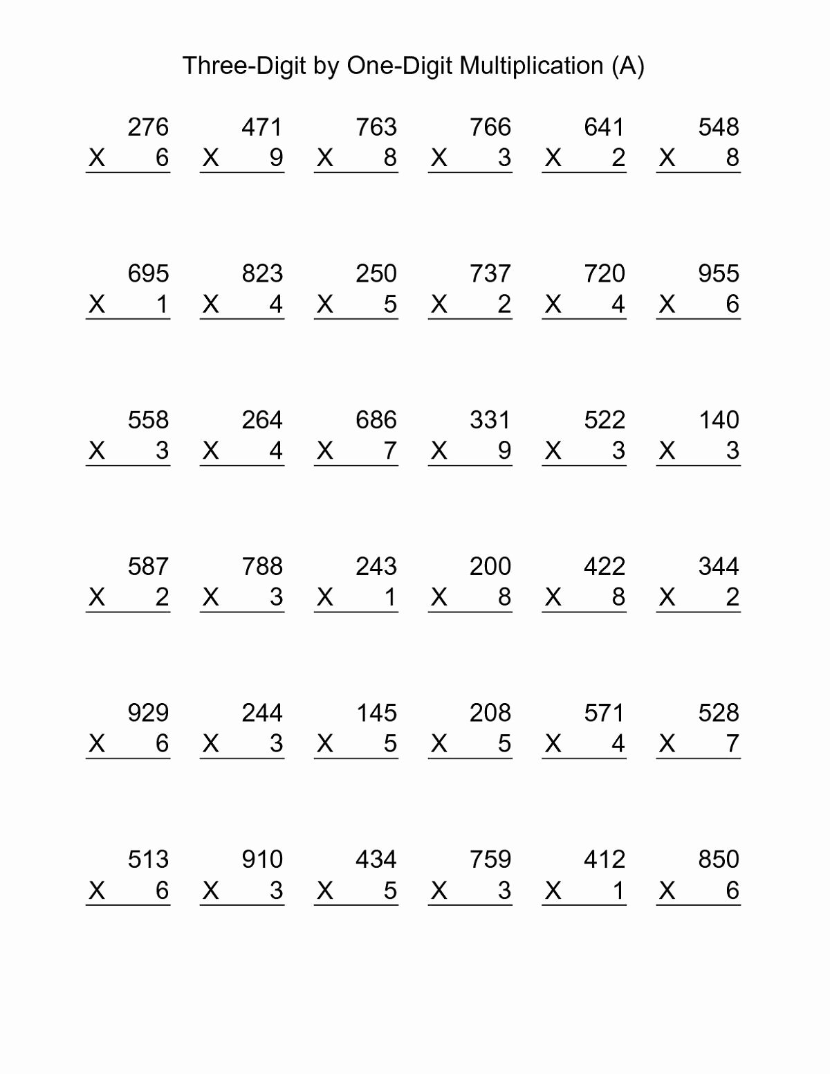 Multiplication Worksheets Grade 8 Fresh Printable Year 4 Math Worksheets Multiplication