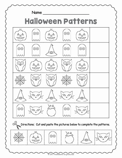 Multiplication Worksheets Halloween Inspirational Free Printable Halloween Pattern Worksheet themed Math