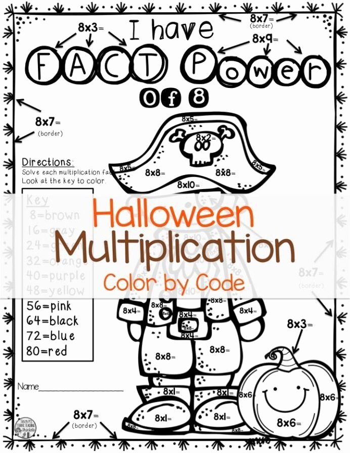 Multiplication Worksheets Halloween Inspirational Halloween Math Multiplication Worksheets for Grade Counting