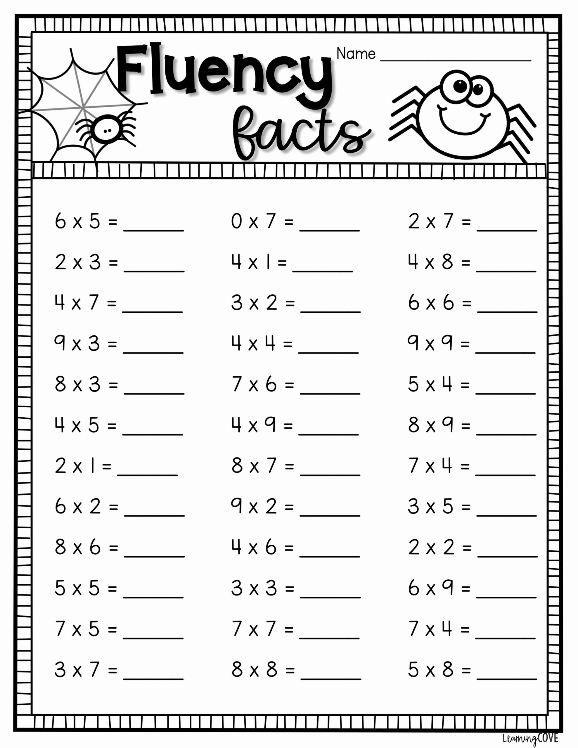Multiplication Worksheets Halloween Inspirational Halloween Multiplication Worksheets In 2020