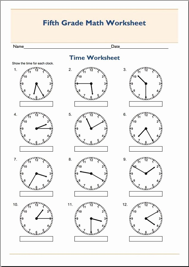 Multiplication Worksheets Printable Grade 5 New Worksheet Freerintable Maths Worksheets for Grade Time