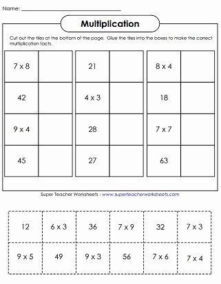 Multiplication Worksheets Super Teacher Lovely Multiplication Worksheets Basic Facts with Factors Of 9