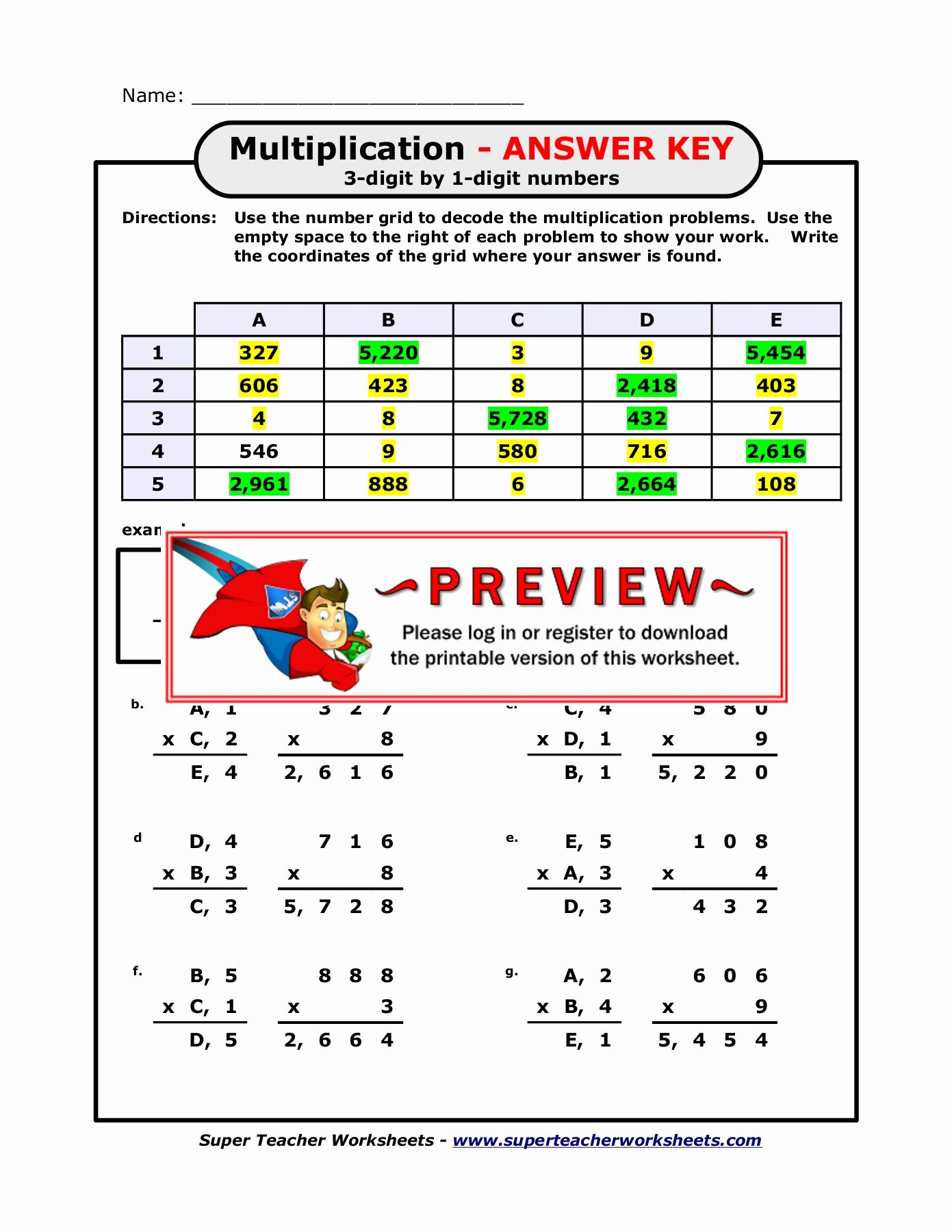 Multiplication Worksheets Super Teacher New Multiplication Super Teacher Worksheets Freemath Printables