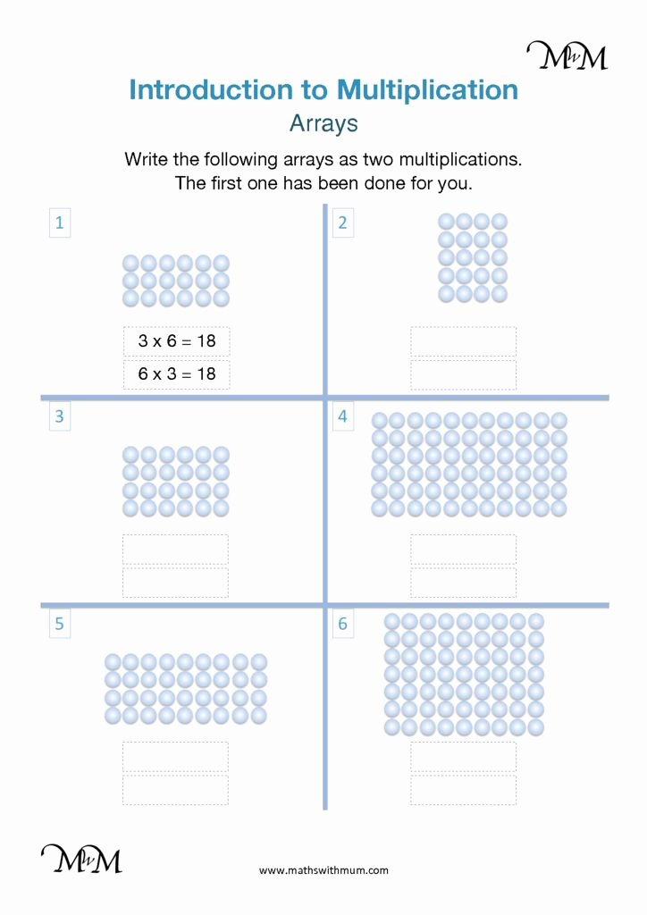 Multiplication Worksheets Using Arrays Awesome Multiplication Using Arrays Maths with Mum