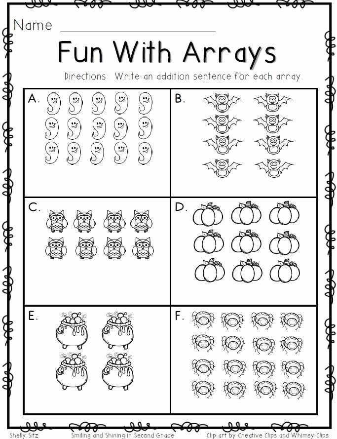 Multiplication Worksheets Using Arrays Best Of Smiling and Shining In Second Grade Fun with Arrays