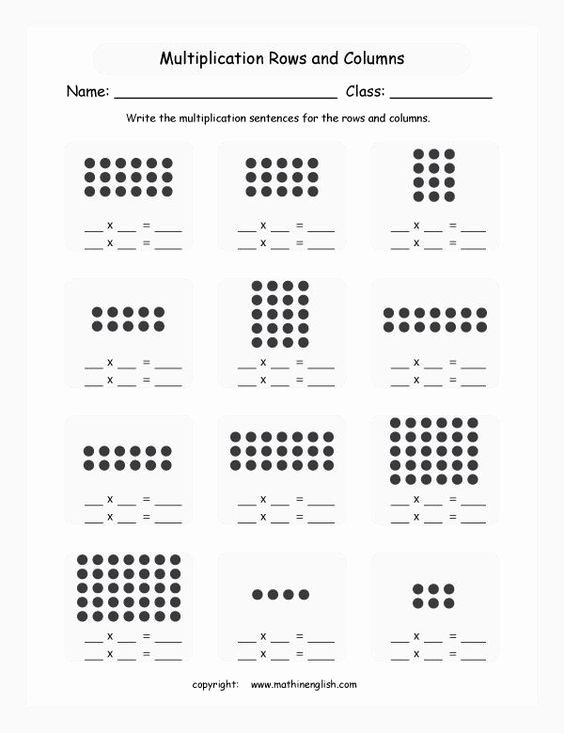 Multiplication Worksheets Using Arrays Fresh Array Worksheet Year 1 Google Search
