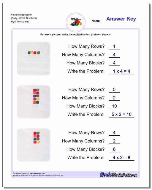 Multiplication Worksheets Using Arrays Inspirational 844 Free Multiplication Worksheets for Third Fourth and